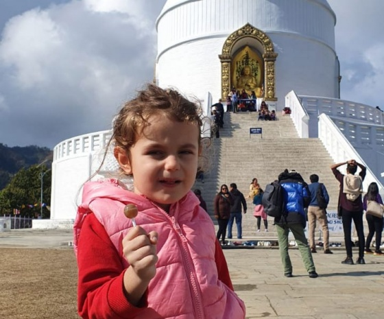Drive to World Peace Pagoda: Explore & short hike to Kalabang (1344m altitude): Lunch with family: 90 minutes drive & 4 hours walk (B, L)