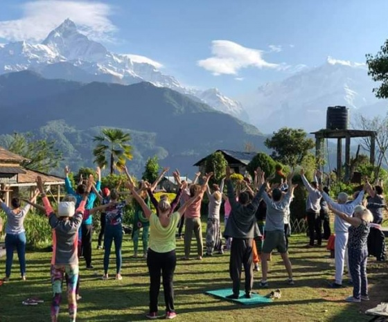 Excursion to Australian Camp (2070m altitude): Drive to Pokhara from Kande: 3-4 hrs walk & 1 hr drive (B, L)