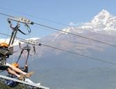 Zip line at Pokhara