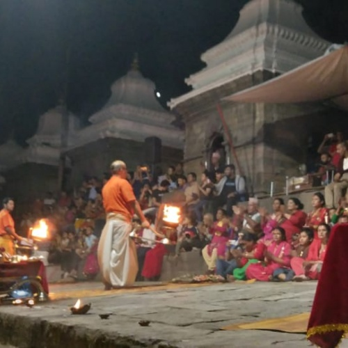 Evening Aarati Celebration at Pashupatinath Temple