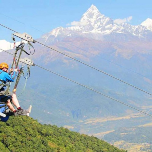 Zip Line in Pokhara